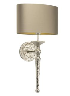 Beautiful Designer Silver Torch Wall Light / Sconce Inspiring Interior Design Fans With Unique Luxury Hollywood Home Decor  Gift Ideas From InStyle-Decor.com Beverly Hills Enjoy  Happy Pinning