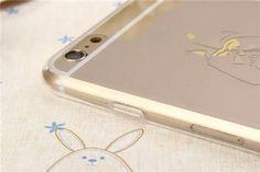 Transparente TPU Handyhülle mit galvanischem Muster für iPhone 6/6 Plus - spitzekarte.com