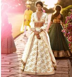 Sabyasachi off-white lengha embroidered lehenga choli with dupatta party wear dress for women's late Sabyasachi Dresses, Sabyasachi Lehenga Bridal, Nikkah Dress, Indian Lehenga, Lehenga Choli, Anarkali, Silk Dupatta, Indian Wedding Outfits, Indian Outfits