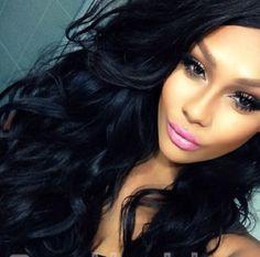 Unprocessed virgin brazilian hair Super Wavy glueless full lace wig human hair wigs for black women Indian Hair Weave, Indian Human Hair, Indian Hairstyles, Wig Hairstyles, Straight Weave Hairstyles, Straight Hair, Hair Tape, Curl Styles, Body Wave Hair