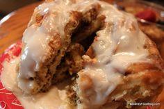 Main Street Bakery cinnamon roll cross-section!