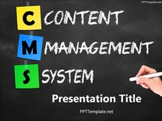 Free seo analysis powerpoint template presents pinterest free free cms chalkhand black ppt template is a brainstorming tool for website developers featuring a blackboard on which content management system is written toneelgroepblik