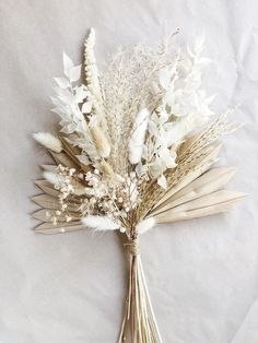 This item is unavailable Natural Dried Fan Palm Bouquet Boho Wedding Flowers, Bridal Flowers, Flower Bouquet Wedding, Floral Wedding, Palm Wedding, Wedding White, Purple Wedding, Dried Flower Bouquet, Dried Flowers
