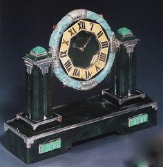 Cartier Art Deco Clock by Clive Kandel Bijoux Art Deco, Art Deco Jewelry, Bling Jewelry, Cartier Jewelry, Crystal Jewelry, Silver Jewelry, Clock Art, Clock Decor, Art Nouveau