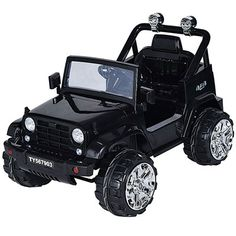 5e817564443ce Costzon Kids Jeep Truck with Remote Control and LED Lights (Black) Kids  Jeep