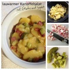 Rezept für den TM (Thermomix): lauwarmer Kartoffelsalat mit Gurke und Speck
