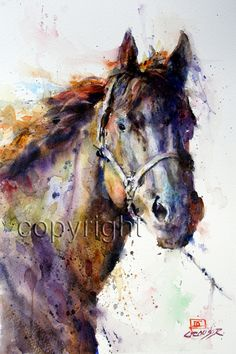 HORSE Watercolor Print by Dean Crouser. via Etsy.