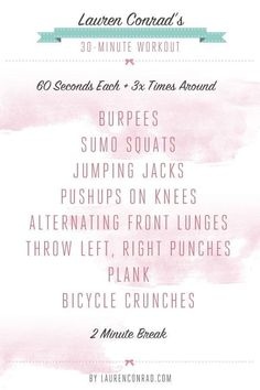 lauren conrad's 30 minute workout