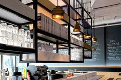 Restaurant I Hotel I Interior I Furniture I Eating I Kith Cafe Quayside Isle I Singapore I Lustre Lighting by Tom Dixon