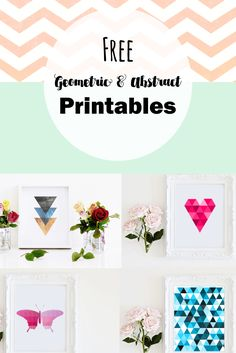 Free geometric and abstract printable wall art. Add a stylish flair to your gallery walls with these modern printables.