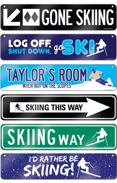 Life is better with Skiing Room Signs! These aluminum decorative signs are sure to add some ski decor to any room! They make the sweetest skiing gift for any avid skier!