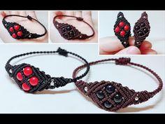 Making Bracelets With Beads, Diy Bracelets Easy, Bracelet Crafts, Handmade Bracelets, Bracelet Making, Macrame Jewelry Tutorial, Macrame Art, Macrame Knots, Macrame Bracelets