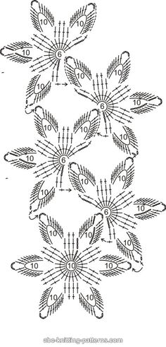 ABC Knitting Patterns - Starflower Scarf Crochet Lace Scarf, Crochet Motifs, Crochet Borders, Crochet Flower Patterns, Crochet Diagram, Crochet Chart, Crochet Scarves, Crochet Designs, Crochet Doilies