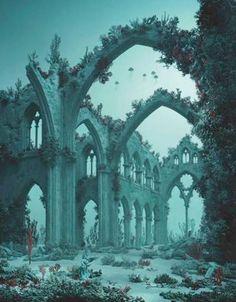 Didier Massard, Underwater Cathedral '12 Chromogenic print Courtesy Julie Saul Gallery