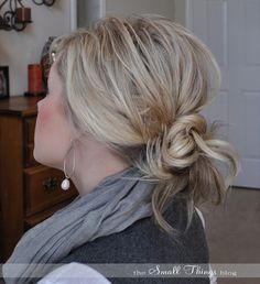 The messy bun.  Great site for hair tutorials.