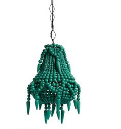 Green Beaded Chandelier