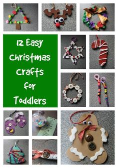 Easy Christmas crafts for kids to make. All 12 of these homemade Christmas ornaments are easy, affordable, and use very basic craft supplies.