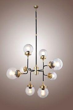 Timeless crystal chandelierhttpchandelierrestoration bistro globe clear glass 8 light brass chandelier restoration hardware style aloadofball Choice Image