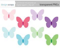 butterfly clip art graphics butterflies digital by designscraps, $3.50