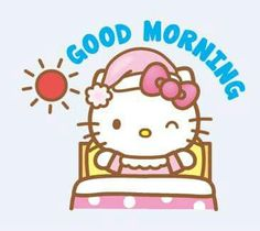Hello Kitty Line Stamps Kitty Cam, Hello Kitty Art, Hello Kitty Items, Cute Good Morning Gif, Good Morning Greetings, Good Morning Wishes, Anime Rules, Hello Kitty Pictures, Hello Kitty Wallpaper