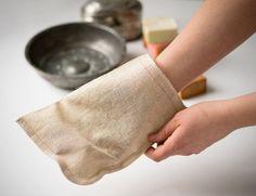 Linen Bath Glove Authentic Turkish Bath Exfoliating by Orientina, $9.00
