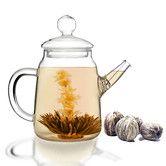 Found it at Wayfair - Blooming Teapot Duo Jasmine Infused Tea Gift Set