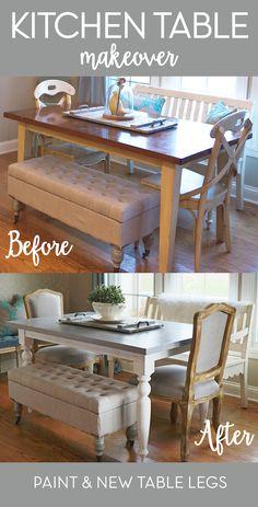 Farmhouse Kitchen Table Diy