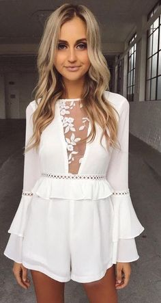 #summer #tigermist #outfits |  White Romper