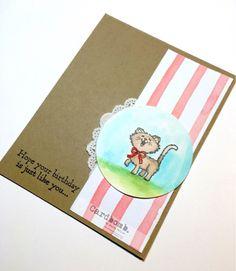 Cardbomb: Well, hey, Pretty Kitty! Maria Willis www.cardbomb.blogspot.com Stampin' Up!, Pretty Kitty, birthday, card, paper craft