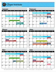 Image result for course yearly calendar