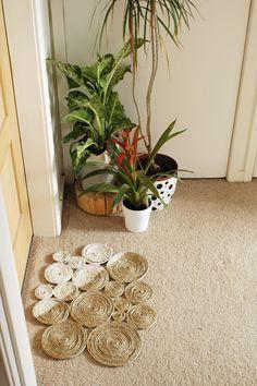 DIY: rope coil doormat