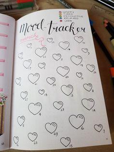Moodtracker maart #moodtracker #bulletjournal #bujo