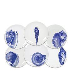 Caskata Artisanal Home - Shells Canapes dish set