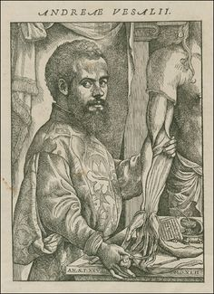 "The dapper man himself: ""Andreas Vesalius"" from ""De Humani Corporis Fabrica"" by Andreas Vealius (anatomist) and Stephen van Calcar and the Workshop of Titian (artists)"