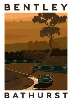 Amazing teaser poster from Bentley for Bathurst 12 Hours