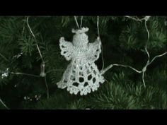 Decorate Christmas Tree with Christmas Special Crochet Angels Design Collection !How to Crochet a Bell Ornament Tutorial Part II - Crochet JewelCrochet - 5 Simple Stitches for Tunisian Crochet Beginners Crochet Christmas Ornaments, Crochet Snowflakes, Christmas Angels, Handmade Christmas, Christmas Crafts, Crochet Angels, Crochet Cross, Filet Crochet, Crochet Geek