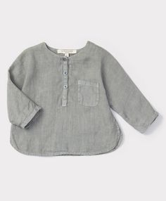 SS'16 Caraway Baby Shirt, Misty Blue, Caramel Baby & Child.