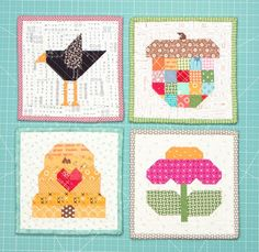 Are you looking for more Farm Girl Vintage fun from Lori Holt of Bee In My Bonnet? We have great news! Now available at Fat Quarter Shop are not one, not two, but four new mini quilt patterns to accom