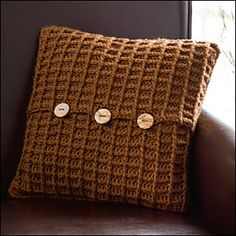 Crocheted pillow cover pattern!