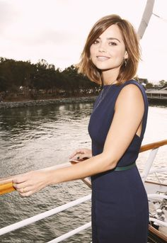 my favorites - Jenna Louise Coleman - TV Guide Magazine Yacht Party Photoshoot Hairstyles Haircuts, Pretty Hairstyles, Hairstyle Short, Hairstyle Ideas, Jenna Coleman Haircut, Jenna Coleman Hair Short, Jenna Coleman Style, Hair Day, New Hair