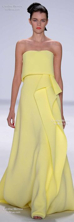 Carolina Herrera Spring 2015 Pantone Custard Color