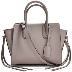 GUESS by Marciano Mareva Satchel ($248) ❤ liked on Polyvore featuring bags, handbags, genuine leather handbags, brown handbags, real leather purses, brown purse and leather handbags