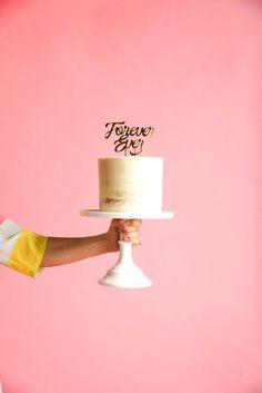 FOREVER EVER CAKE TOPPER