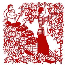 Chinese harvest papercut