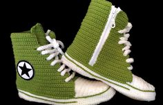 Converse Slippers for Women and Man, Converse Shoes Booties, Crochet House…
