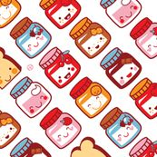 Bacon, Bacon, Bacon, Feorlen, and Bacon fabric by vo_aka_virginiao for sale on Spoonflower - custom fabric, wallpaper and wall decals