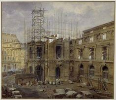 vestiaire de l'opera garnier | ... de l opera garnier en construction 1845 bnf bibliotheque musee de l