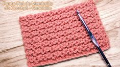 Crochet Baby, Knit Crochet, Crochet Stitches, Rugs, Knitting, Youtube, Scrappy Quilts, Frases, Chain Stitch