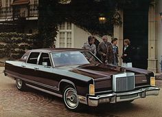 1977 Lincoln Continental Sedan. It was maroon on maroon and had a killer stereo system in it (but not for long)..Drove it for a while and parked it because it made too much noise and the trans was going out. Nice looking car though.