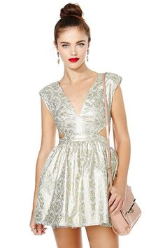 Contessa Brocade Dress at Nasty Gal